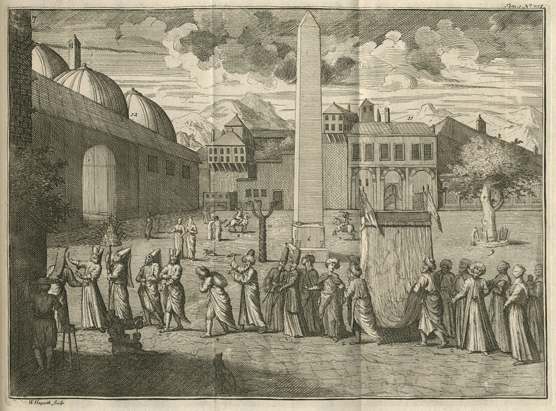 Turkey-Tours-Hippodrome-Serpent-Column-Aubry-de-la-Mottraye-istanbul-1727
